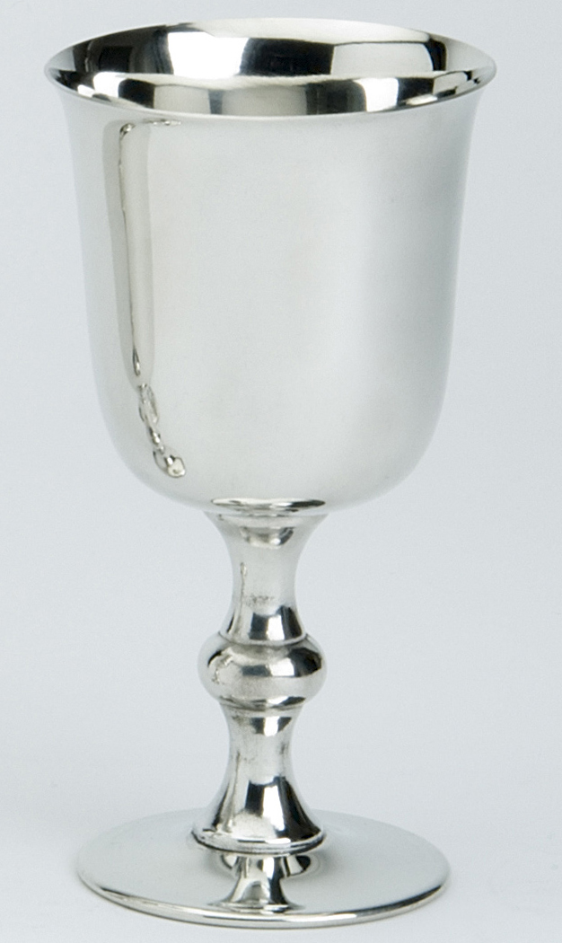 Pewter Goblets Plain chalice. The Pewter Goblets also available in 2 sizes, approx. 12.5 centimeter ( 5 inches) and 15 centimeter (6 inches) .