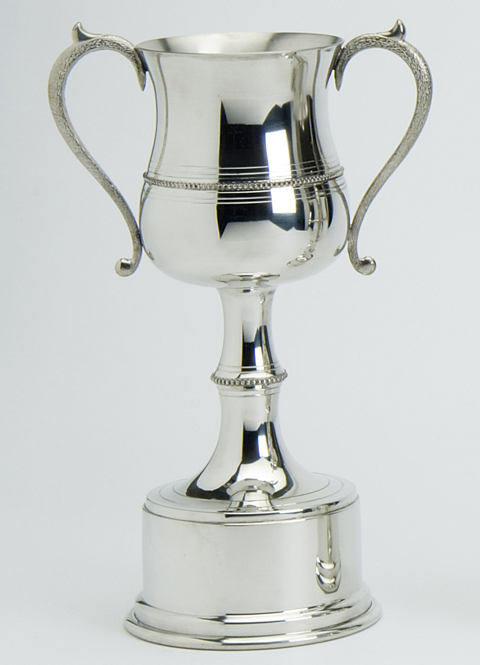 Pewter Trophies Beaded five sizes. The Pewter Trophies are available in sizes 6, 8, 10, 12, and 14 inch and have a solid base.