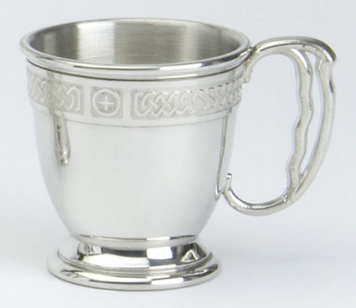 Pewter Christening Cup Celtic