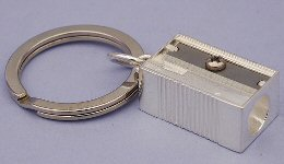 Silver Pencil Sharpener Keyring