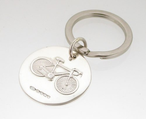 Sterling Silver Bicycle Keyring