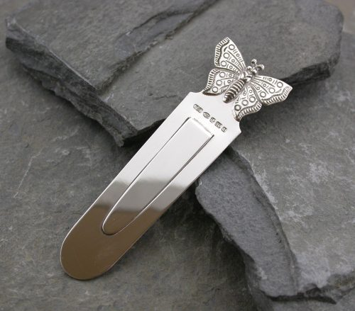 Silver Butterfly Bookmark