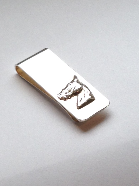 Silver Horse Money Clip Horses Head
