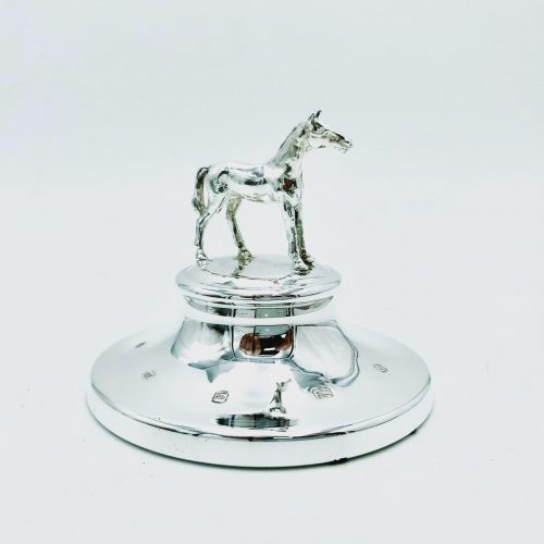 Sterling Silver Horse Paperweight